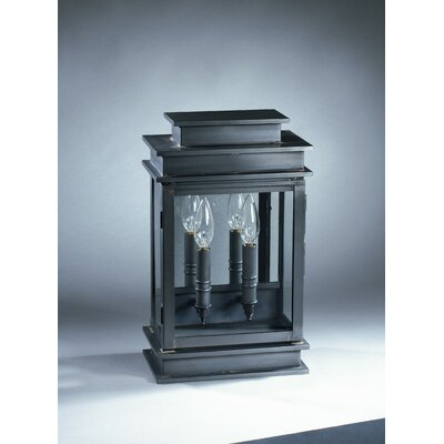 Northeast Lantern Empire 2 Candelabra Sockets Antique Mirror Wall Lantern