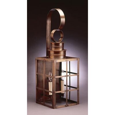 Northeast Lantern Suffolk Medium Base Sockets Can Top H-Bars Wall Lantern