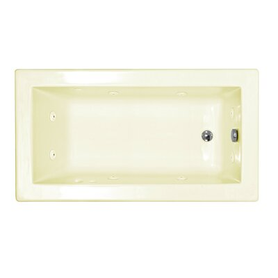 "Spa Escapes Guadeloupe 60"" x 23"" Rectangular Whirlpool Tub"