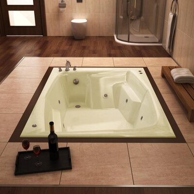 "Spa Escapes St. Nevis 72"" x 54"" Rectangular Whirlpool Tub"