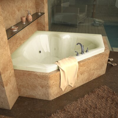 "Spa Escapes Tobago 60"" x 60"" Corner Whirlpool Tub"