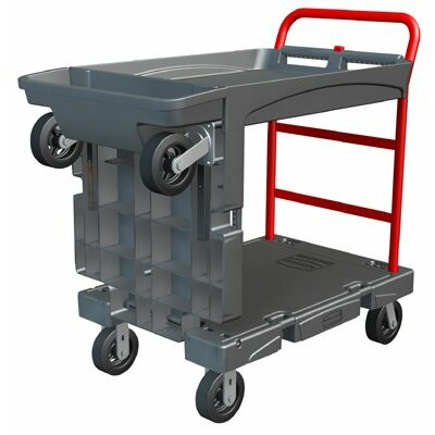 Rubbermaid Commercial Products Rubbermaid Commercial - Convertible Platform Trucks Convertible Platform Truck 24X52: 640-4496-Bla - convertible platform truck 24x52