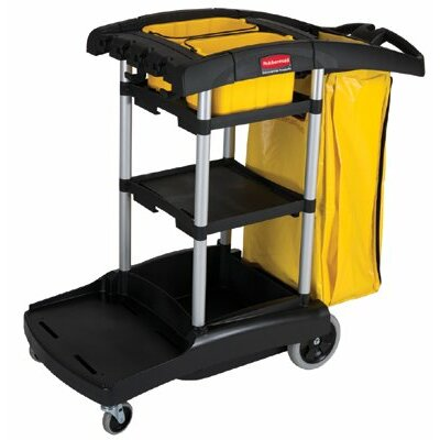 Rubbermaid Commercial Products Rubbermaid Commercial - High Capacity Cleaning Carts Black High Capacity Cleaning Cart: 640-9T72 - black high capacity cleaning cart