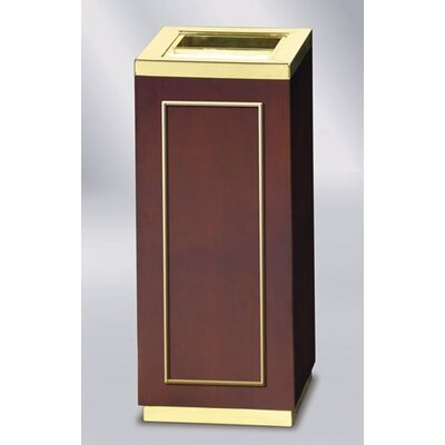 Rubbermaid Commercial Products Designer Line Natural Wood Open Top Receptacle