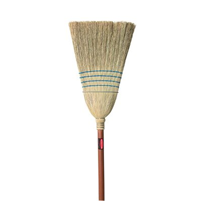 Rubbermaid Commercial Products Warehouse Corn-Fill Broom in Blue
