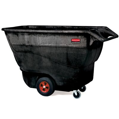 Rubbermaid Commercial Products 1250-lb Structural Foam Tilt Truck in Black