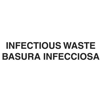 "Rubbermaid Commercial Products 10 x 4 Medical Decal ""Infectious Waste"" in White"