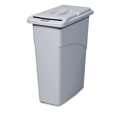 Rubbermaid Commercial Products Slim Jim Confidential Document Rectangle Receptacle with Lid, 23 Gal