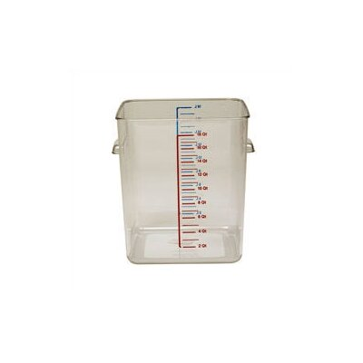 Rubbermaid Commercial Products Polycarbonate Square Storage Container (12 U.S. qt.)
