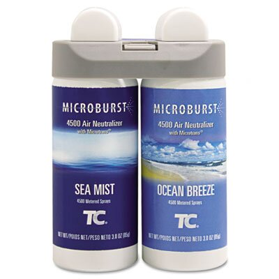 Rubbermaid Commercial Products Microburst Duet Refills, 4 Oz, 4/Carton