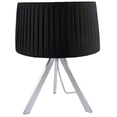 Checkolite International Home Design Zymeth One Light Table Lamp in Black