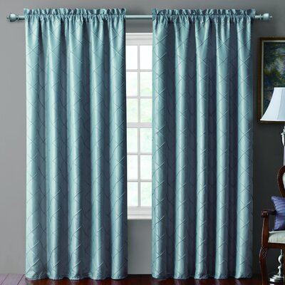 Victoria Classics Sable Pintucked Taffeta Rod Pocket Blackout Curtain Single Panel