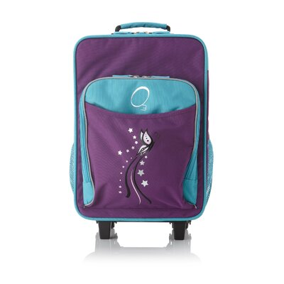 Kids Luggage with Integrated Cooler in Turquoise Butterfly