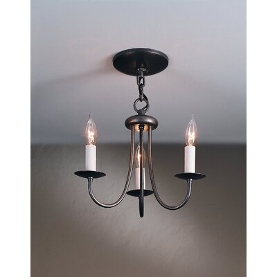 Simple Sweep 3 Light Chandelier