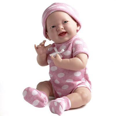 JC Toys Berenguer Boutique Newborn Doll with Pink Polka Dot Bodysuit
