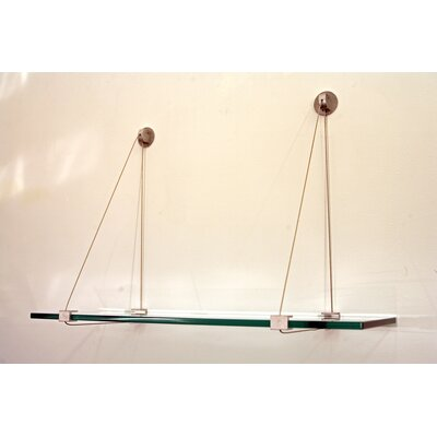 "Spancraft Glass 12"" Floating Crane Shelf"