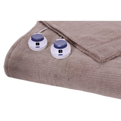 Perfect Fit Industries Triple Rib Electric Heated Warming Throw in Beige