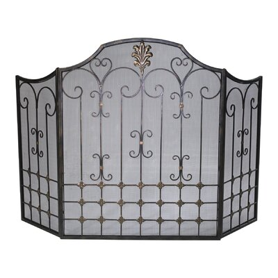 Cyan Design 3 Panel Iron Fireplace Screen
