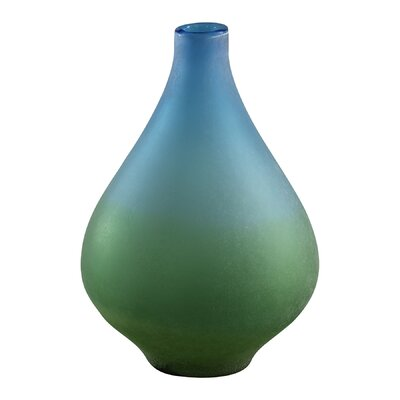 Medium Vizio Vase in Blue and Green