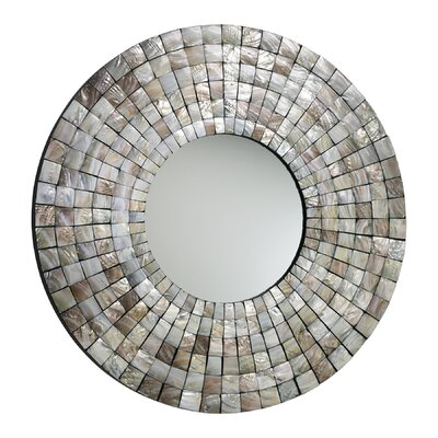 Cyan Design Mosaic Tile Mirror in Capiz Shell