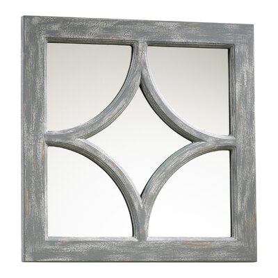 Ashton Mirror in Distressed Gray