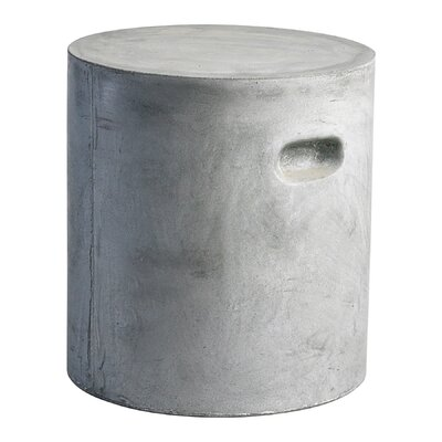 Cyan Design Round Clay Stool in Slate