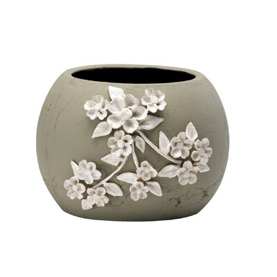 Cyan Design Lily Planter in Terra Cotta and Frosted White