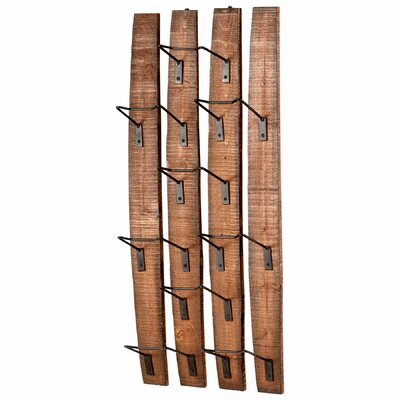 Large Fresno 9 Bottle Wall Mounted Wine Rack