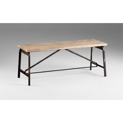 Cyan Design Laramie Iron and Wood Picnic Bench