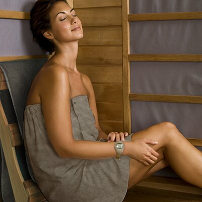 Sunlighten Bamboo Carbon Body Wrap Bath Towel