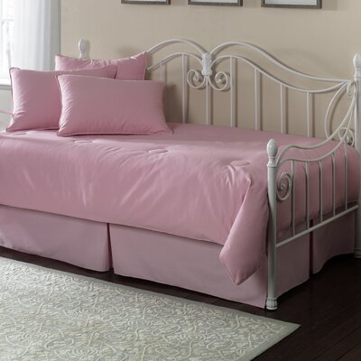 Southern Textiles Paramount 5 Piece Twin Daybed Set in Solid Pink