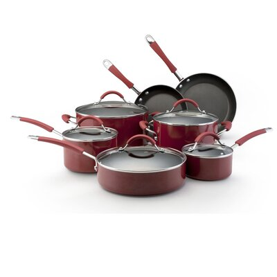 Porcelain Nonstick Stainless Steel 12-Piece Cookware Set