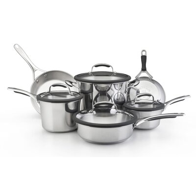 KitchenAid Gourmet Stainless Steel 10-Piece Cookware Set