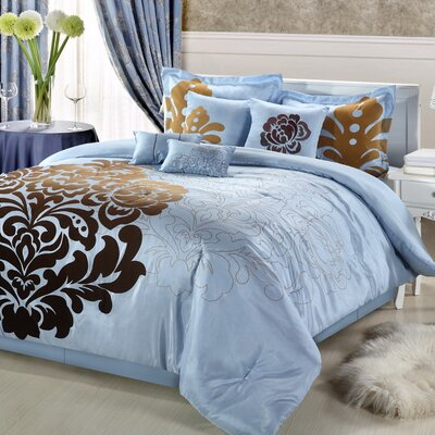Luxury Home Tramore 12 Piece Faux Silk Bed in a Bag