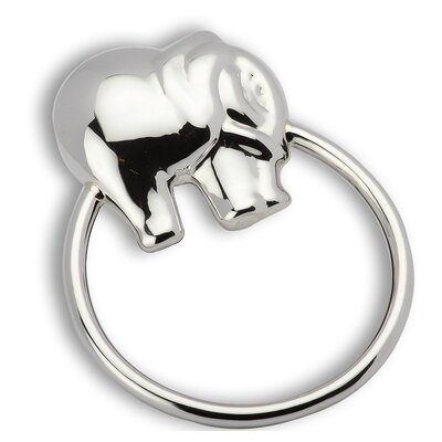 Elephant Ring Sterling Silver Baby Rattle