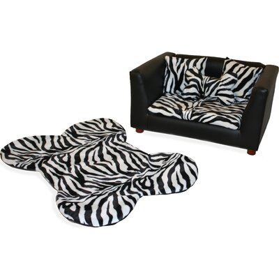 Fantasy Furniture Deluxe Orthopedic Zebra Memory Foam Dog Bed Set