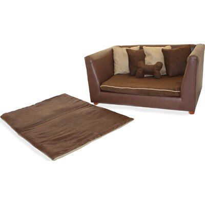 Fantasy Furniture Deluxe Orthopedic Memory Foam Dog Brown Bed Set
