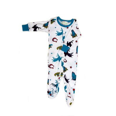 New Jammies Wild Stallion Boys Organic Footie