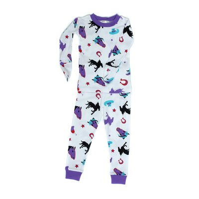 New Jammies Mitted Jammie Stallion Girls Organic Pajama
