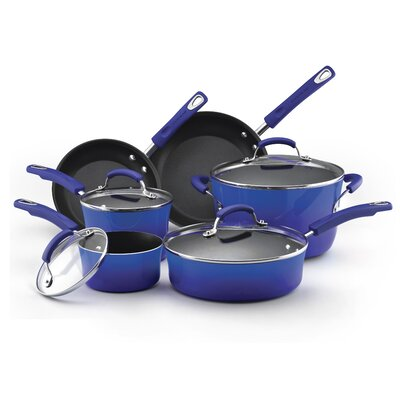Rachael Ray Porcelain II Aluminum 10-Piece Cookware Set