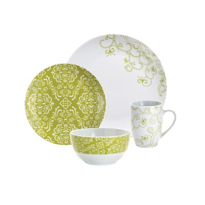 Curly-Q 16 Piece Dinnerware Set