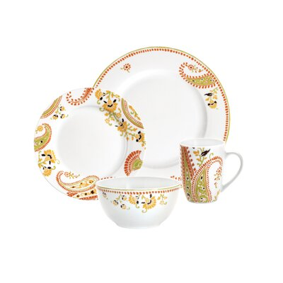 Rachael Ray Paisley 4 Piece Place Setting