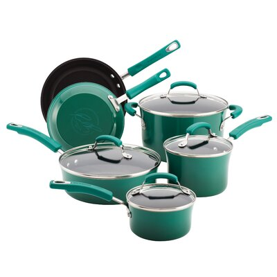 Rachael Ray Porcelain II 10-Piece Cookware Set