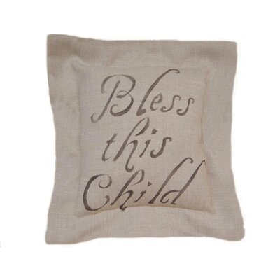 Bless This Child Pillow with Flang