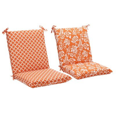 Pillow Perfect Outdoor Squared Reversible Chair Cushion