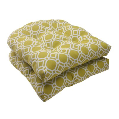 Pillow Perfect Rossmere Wicker Seat Cushion (Set of 2)