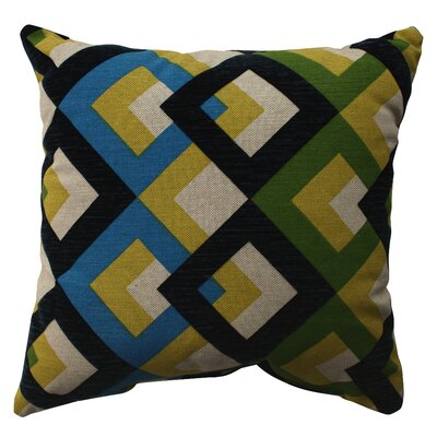 Pillow Perfect Overlap Geo Poly / Cotton Pillow