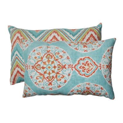Pillow Perfect Mirage and Chevron Polyester Throw Pillow (Set of 2)