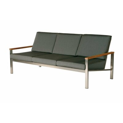 Barlow Tyrie Teak Equinox Deep Seating Sofa with Cushions
