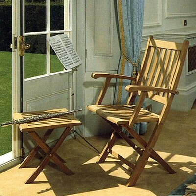 Barlow Tyrie Teak Ascot Carver Dining Arm Chair with Cushion